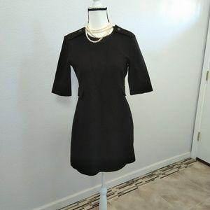 Zara black midi dress size medium